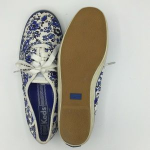Keds Shoes - Keds Women's Blue Floral Classic Canvas Sneaker /8